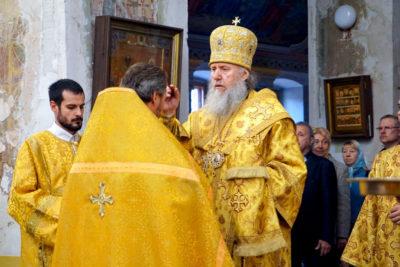 Архиепископ Димитрий совершил всенощное бдение в храме святой великомученицы Ирины