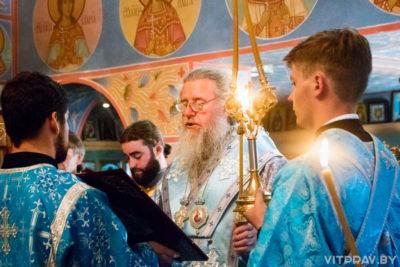Архиепископ Димитрий совершил всенощное бдение в храме святого Георгия Победоносца города Витебска