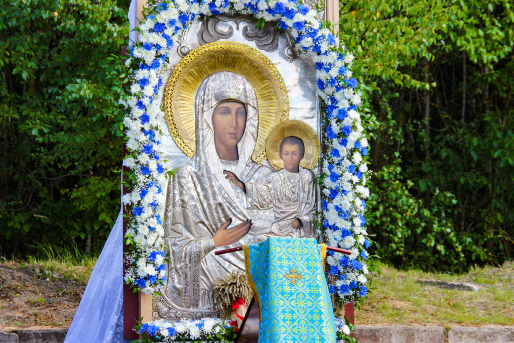 XVII Международный Одигитриевский крестный ход прибыл на территорию Российской Федерации