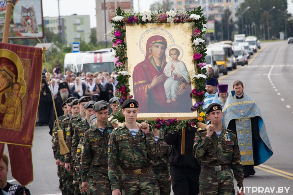 18 сентября в Орше состоится ежегодный крестный ход в честь дня памяти Оршанской иконы Божией Матери