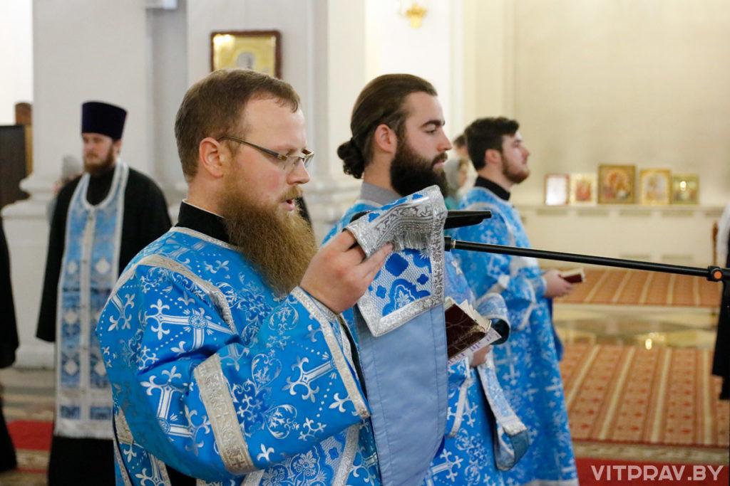 Архиепископ Димитрий совершил всенощное бдение в Свято-Успенском кафедральном соборе Витебска