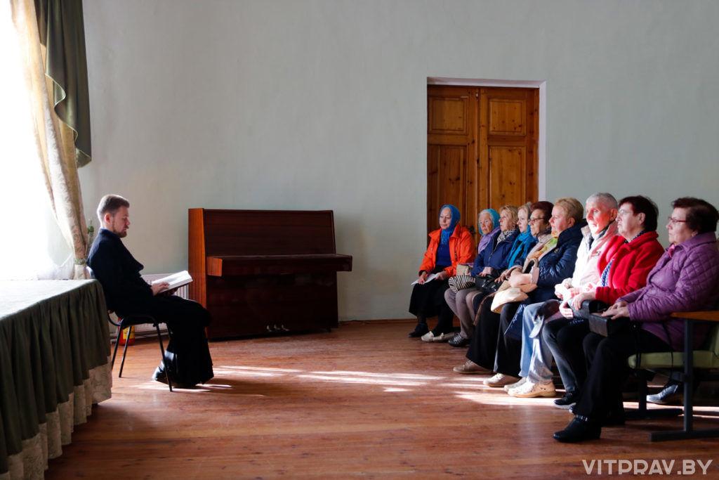 В Витебской духовной семинарии прошла беседа для посетителей отделения дневного пребывания территориального центра социального обслуживания