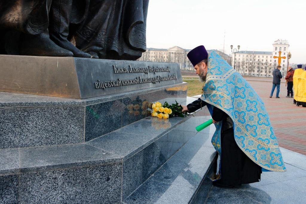 В храме святого благоверного князя Александра Невского города Витебска отметили престольный праздник