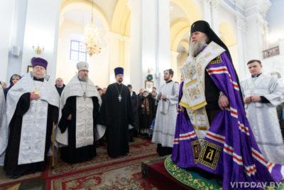 Архиепископ Димитрий совершил ежегодный Рождественский молебен в Свято-Успенском кафедральном соборе города Витебска