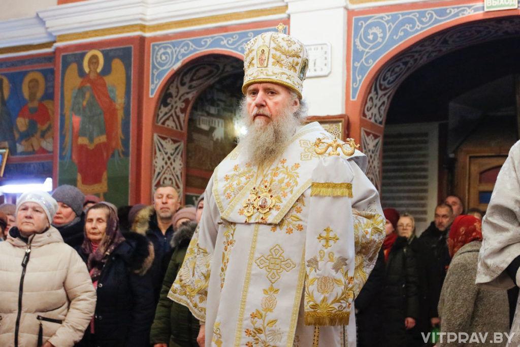 В канун праздника Крещения Господня архиепископ Димитрий совершил всенощное бдение в Свято-Покровском соборе