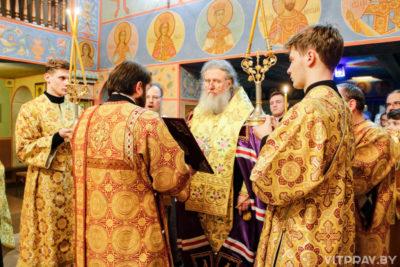 Архиепископ Димитрий совершил вечернее богослужение в Свято-Георгиевском храме города Витебска