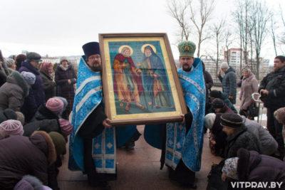 График пребывания чудотворной иконы преподобных Гавриила (Ургебадзе) и Серафима Саровского в Витебской епархии