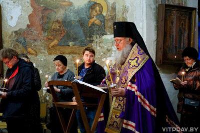Архиепископ Димитрий совершил великое повечерие с чтением Великого канона преподобного Андрея Критского в храме святой великомученицы Ирины