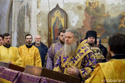 В канун Недели первой Великого поста архиепископ Димитрий совершил всенощное бдение в храме святой великомученицы Ирины