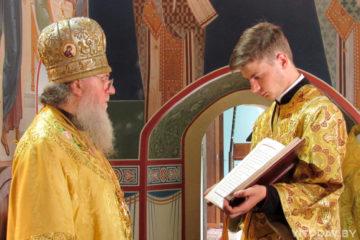 В Неделю 2-ю по Пятидесятнице архиепископ Димитрий совершил Литургию в Свято-Троицком Марковом монастыре города Витебска