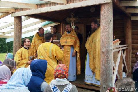 В деревне Село Городокского района состоялось праздничное богослужение по случаю престольного праздника