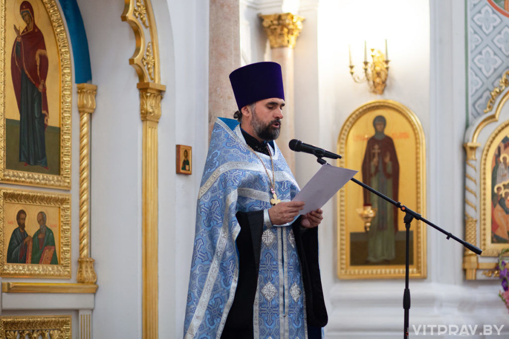 В Свято-Успенском кафедральном соборе города Витебска состоялось торжественное богослужение по случаю престольного праздника