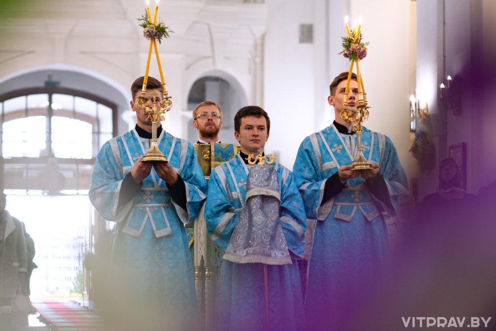 В Свято-Успенском кафедральном соборе города Витебская состоялось торжественное богослужение по случаю престольного праздника