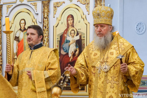 В канун Недели 10-й по Пятидесятнице архиепископ Димитрий совершил всенощное бдение в храме святой великомученицы Ирины