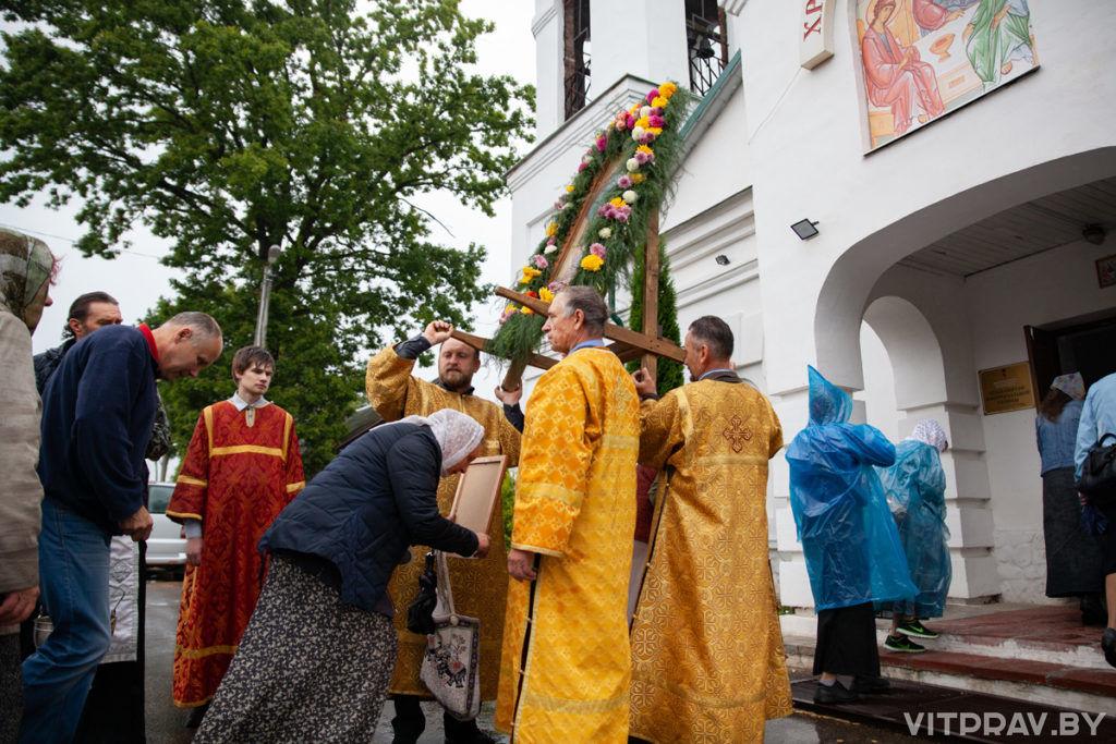В Городке прошел крестный ход, посвящённый предстоящему празднику Успения Пресвятой Богородицы