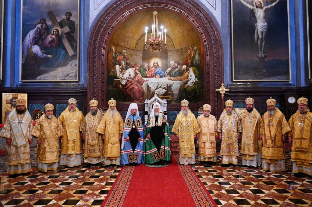 Делегация Белорусской Православной Церкви приняла участие в Патриаршем богослужении в Храме Христа Спасителя