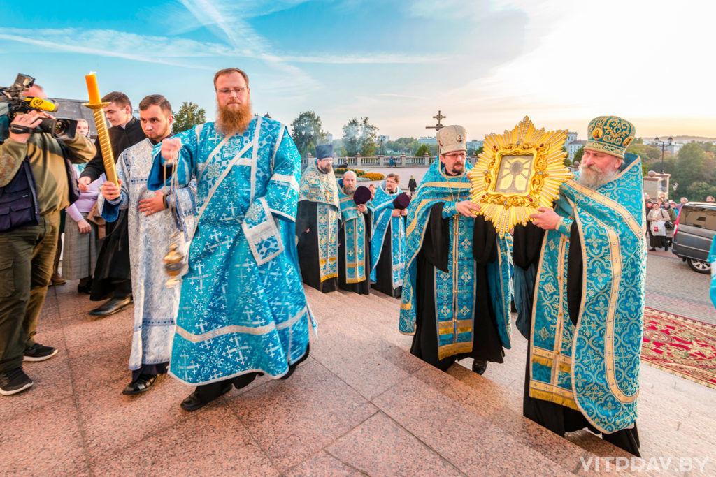 В Витебске встретили копию чудотворной иконы Божией Матери «Жировицкая»