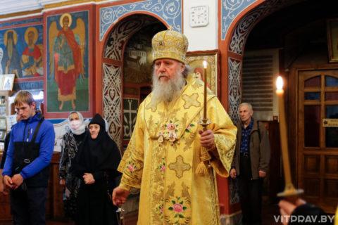 В канун Недели 14-ой архиепископ Димитрий совершил всенощное бдение в Свято-Покровском соборе города Витебска