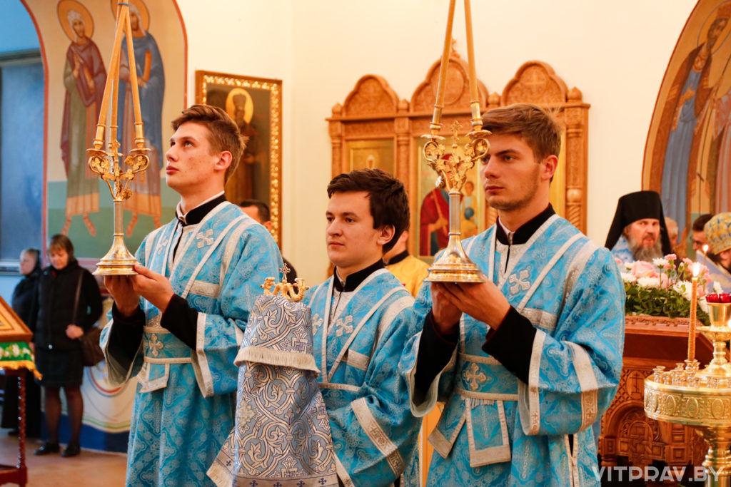 В канун Рождества Пресвятой Богородицы архиепископ Димитрий совершил всенощное бдение в Свято-Троицком Марковом мужском монастыре города Витебска