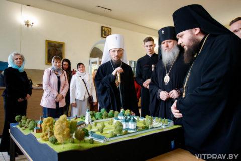 Состоялся визит митрополита Вениамина в Свято-Троицкий Марков мужской монастырь города Витебска