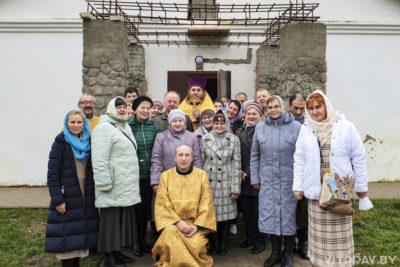 В агрогородке Межа была совершена Литургия во вновь отстроенном Свято-Никольском храме