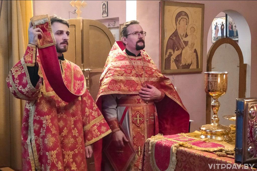 В день памяти святой великомученицы Екатерины в домовом храме при Витебском епархиальном управлении отметили престольный праздник