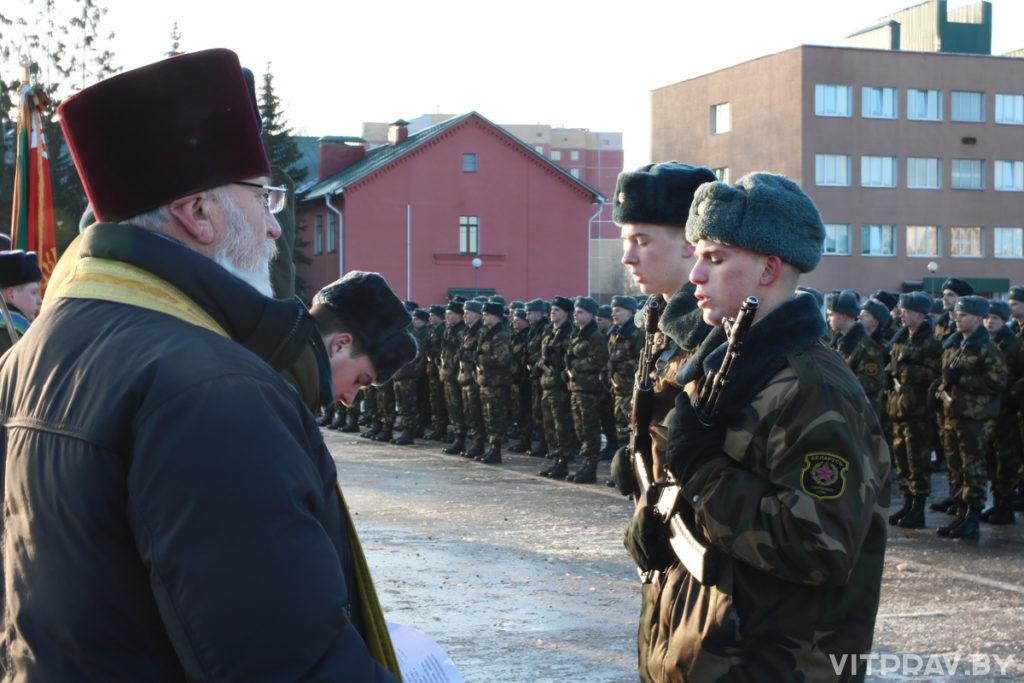 Настоятель храма при 103-й отдельной гвардейской воздушно-десантной бригаде благословил новобранцев на начало воинской службы
