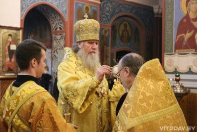 В канун Недели 27-й по Пятидесятнице архиепископ Димитрий совершил всенощное бдение в Свято-Покровском соборе города Витебска