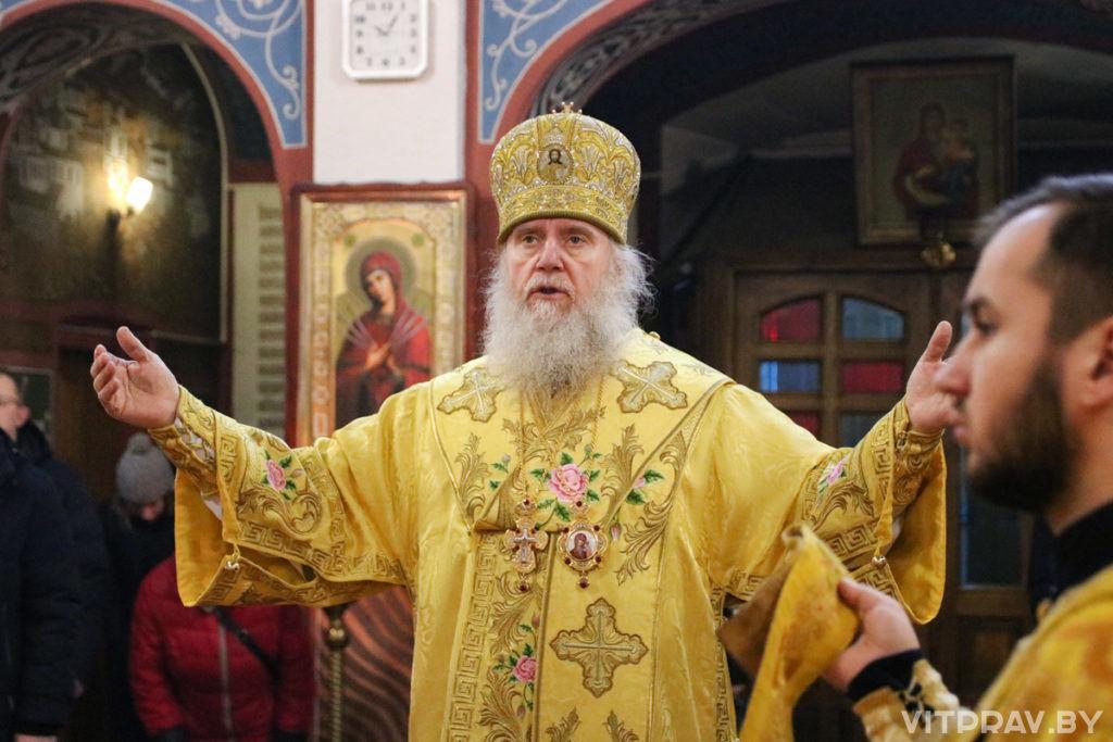 В день памяти святого апостола Андрея Первозванного архиепископ Димитрий совершил Литургию в Свято-Покровском соборе города Витебска