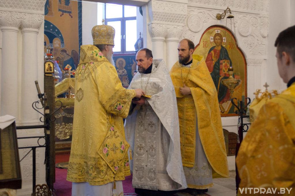 В Неделю 24-ю по Пятидесятнице архиепископ Димитрий совершил Литургию в Свято-Покровском соборе города Витебска