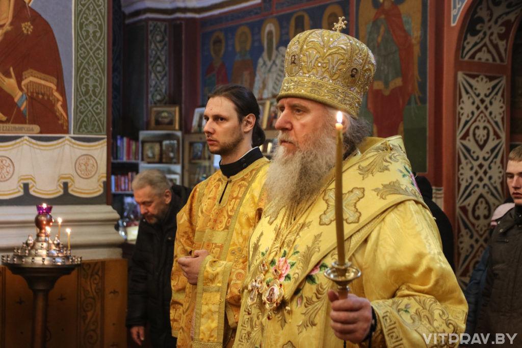 Архиепископ Димитрий совершил всенощное бдение в Свято-Покровском соборе города Витебска