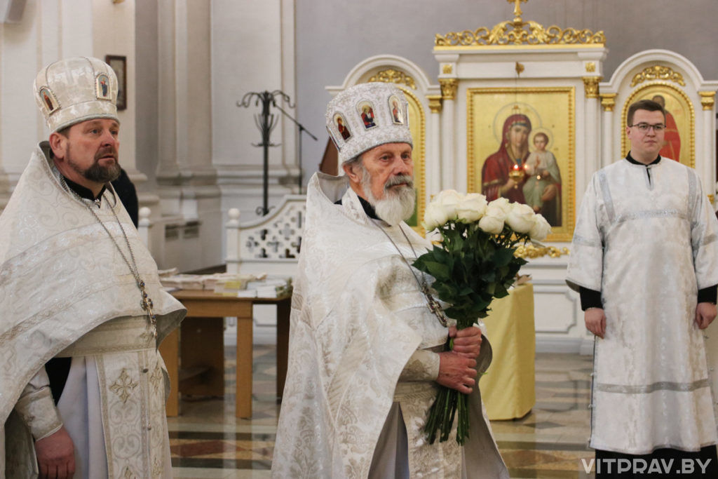 Священнослужители города Витебска молитвенно отметили День рождения архиепископа Димитрия