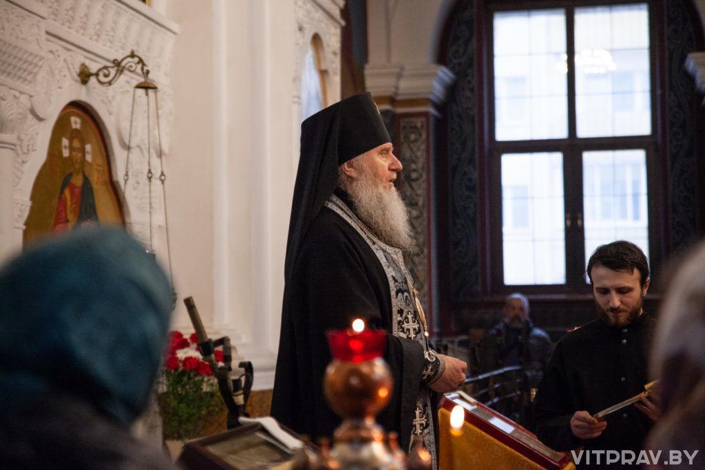 Архиепископ Димитрий совершил вечерню с чином прощения в Свято-Покровском соборе города Витебска