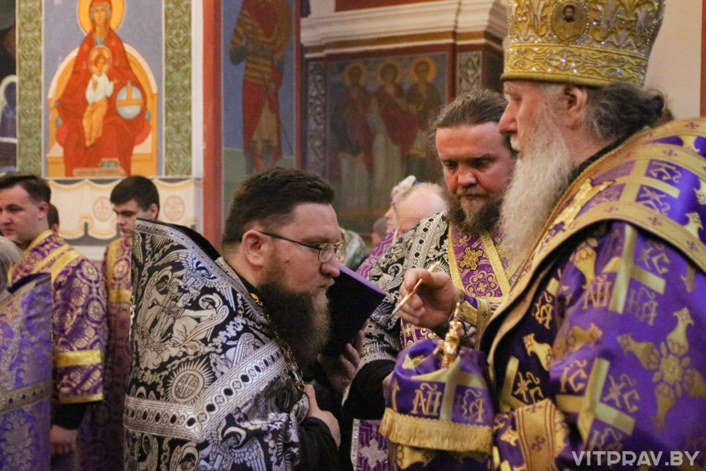 В канун Недели первой Великого поста архиепископ Димитрий совершил всенощное бдение в Свято-Покровском соборе города Витебска
