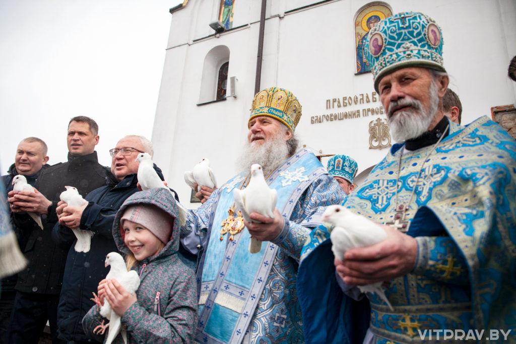 В день престольного праздника архиепископ Димитрий совершил Литургию в храме Благовещения Пресвятой Богородицы города Витебска