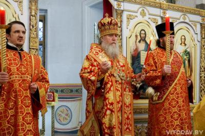 В канун Недели 2-й по Пасхе архиепископ Димитрий совершил всенощное бдение в храме святой великомученицы Ирины