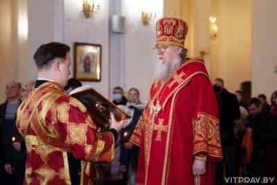 В праздник Светлого Христова Воскресения архиепископ Димитрий возглавил торжественное богослужение в Свято-Успенском соборе города Витебска