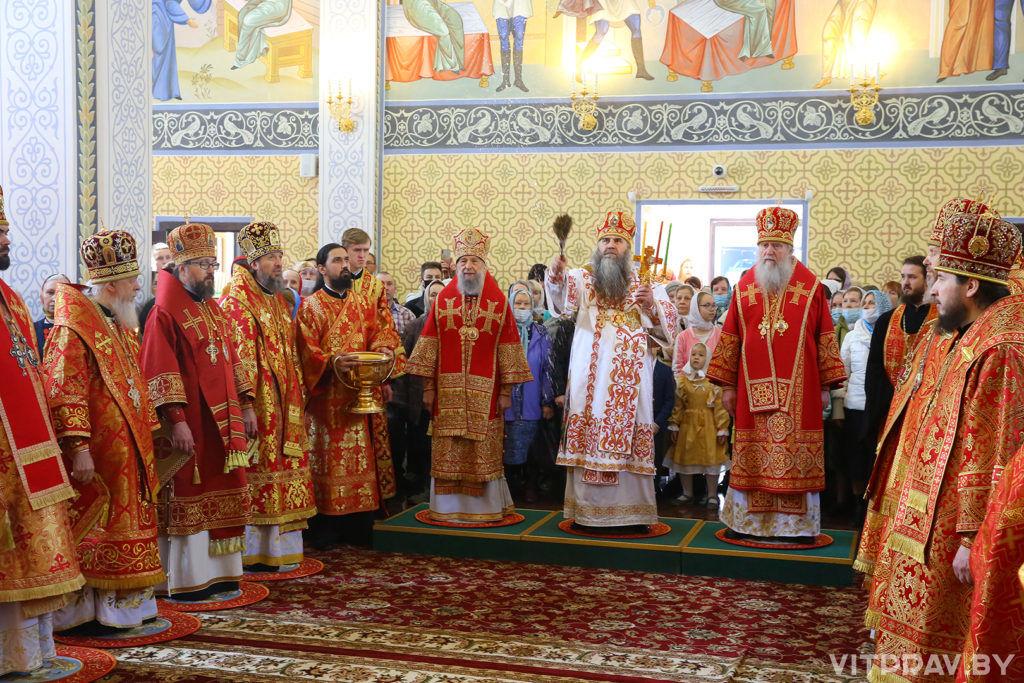 ВСветлый четверг представители Витебской епархии приняли участие в освящении храма святой блаженной Матроны Московской Нижнего Новгорода