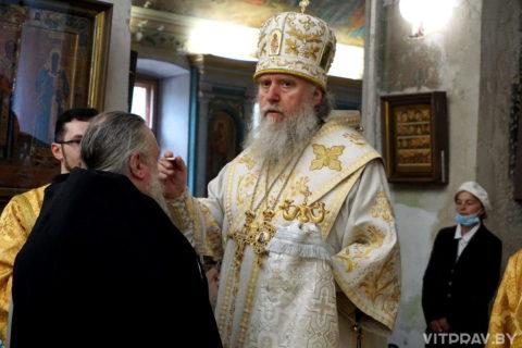 В канун Недели 7-й по Пасхе архиепископ Димитрий совершил всенощное бдение в храме великомученицы Ирины города Москвы