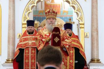 В канун Недели 6-ой по Пасхе архиепископ Димитрий совершил всенощное бдение в Свято-Успенском кафедральном соборе города Витебска