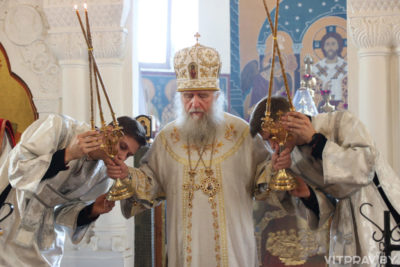 В праздник Вознесения Господня архиепископ Димитрий совершил Божественную литургию в Свято-Покровском соборе города Витебска