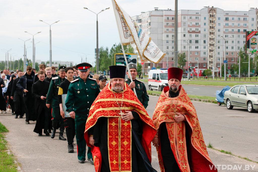 В Витебске прошел крестный ход, посвященный 800-летию святого благоверного князя Александра Невского