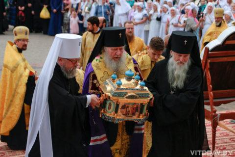 В Витебске прошел крестный ход с мощами святого благоверного князя Александра Невского
