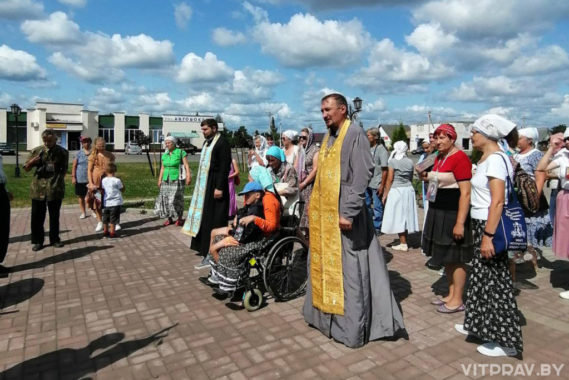 В Лепеле состоялся крестный ход в честь Казанской иконы Божьей Матери
