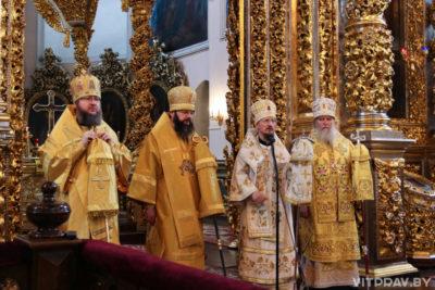 Архиепископ Димитрий сослужил митрополиту Вениамину в Свято-Успенском кафедральном соборе города Смоленска