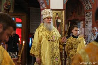 В канун Недели 4-й по Пятидесятнице архиепископ Димитрий совершил всенощное бдение в Свято-Покровском соборе города Витебска