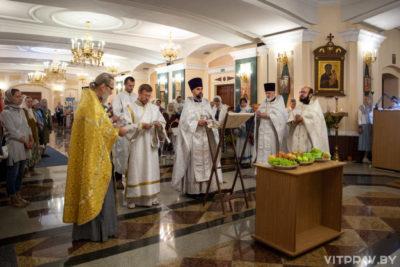 В храме Преображения Господня города Витебска отметили престольный праздник