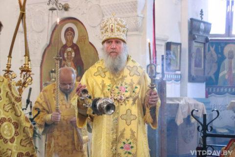В канун Недели 8-й по Пятидесятнице архиепископ Димитрий совершил всенощное бдение в Свято-Покровском соборе города Витебска