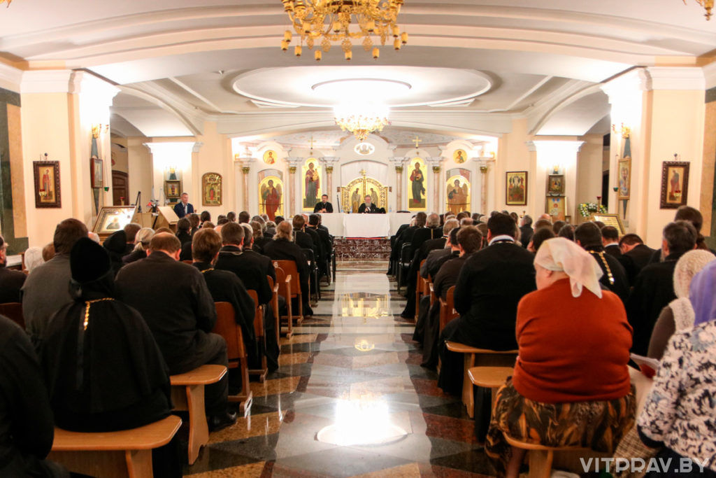 В храме Преображения Господня прошло собрание духовенства и мирян Витебской епархии