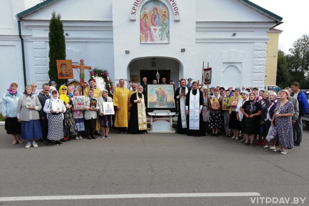 В Городке прошел крестный ход, посвященный празднику Успения Пресвятой Богородицы и 800-летию святого благоверного князя Александра Невского